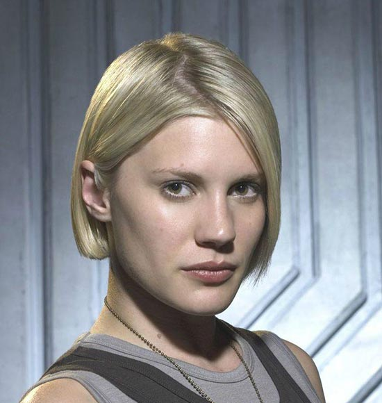 Kara Thrace Sassy Bob Haircuts for Round Faces