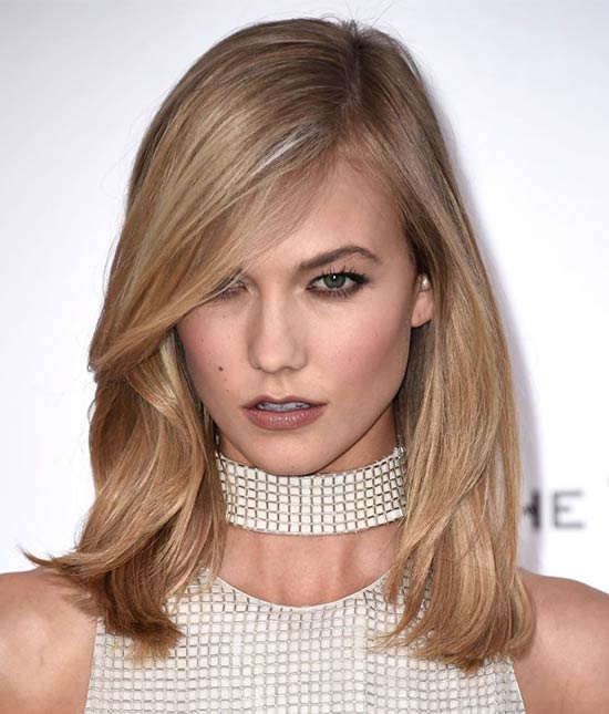 Karlie Kloss Medium Straight Hairstyles