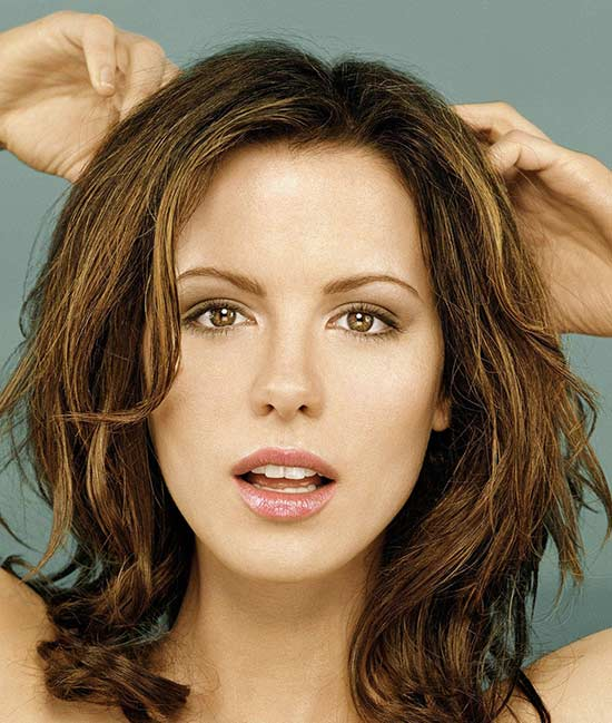 Kate Beckinsale Medium Length Haircuts for Thick Hair