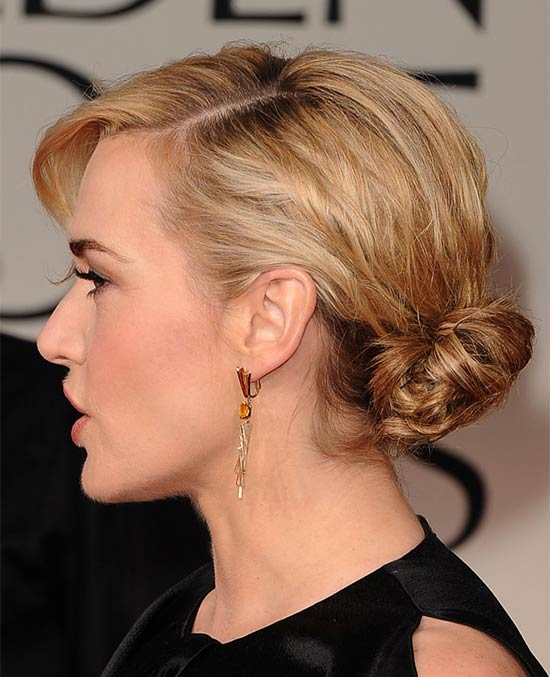 Kate Winslet Updos for Medium Length Hair