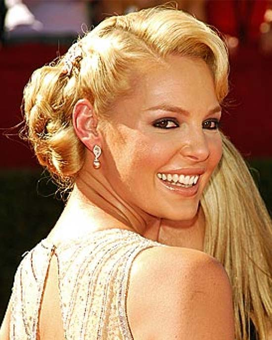 Katherine Heigl Updos for Medium Length Hair
