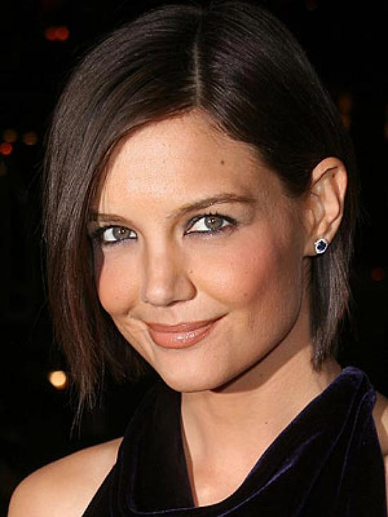 Katie Holmes Angled Bob Hairstyle