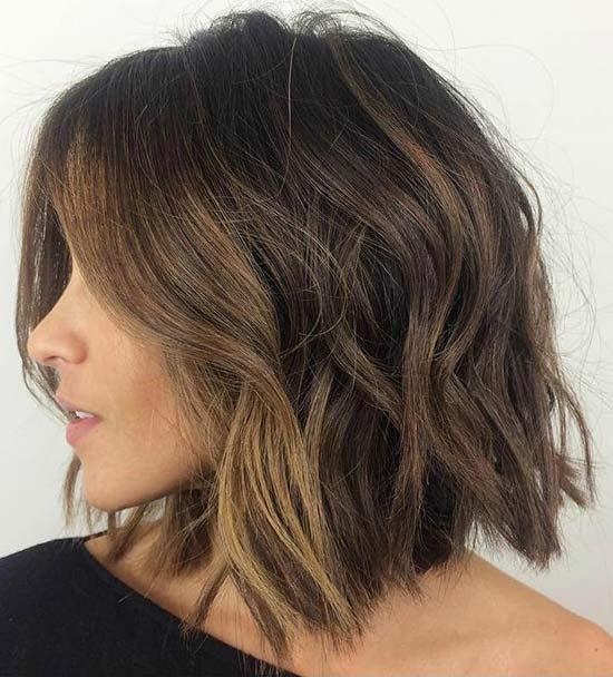 Katrina Bowden Messy bob haircuts