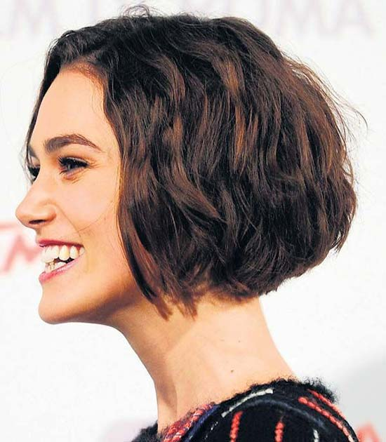 Keira Knightley Choppy Bob Hairstyles