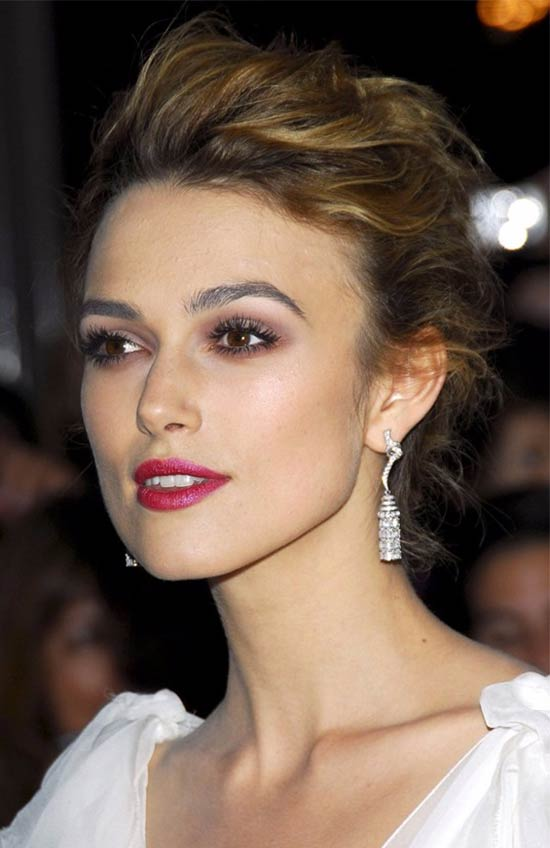Keira Knightley Updos for Medium Length Hair