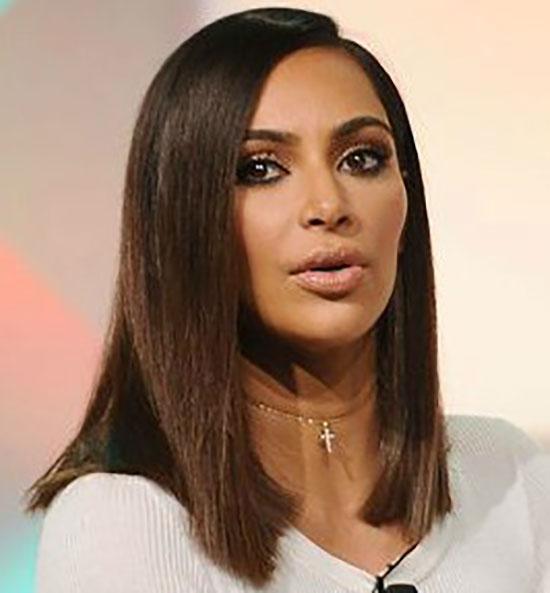 Kim Kardashian Blunt Bob Hairstyles