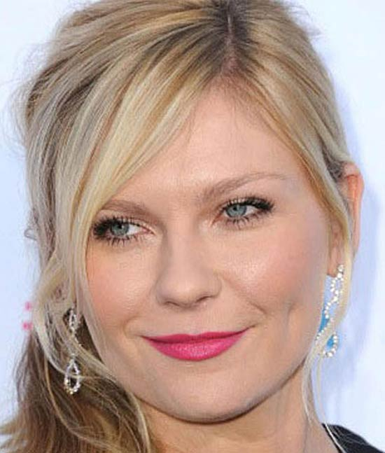 Kirsten Dunst Medium Hairstyles for Round Faces