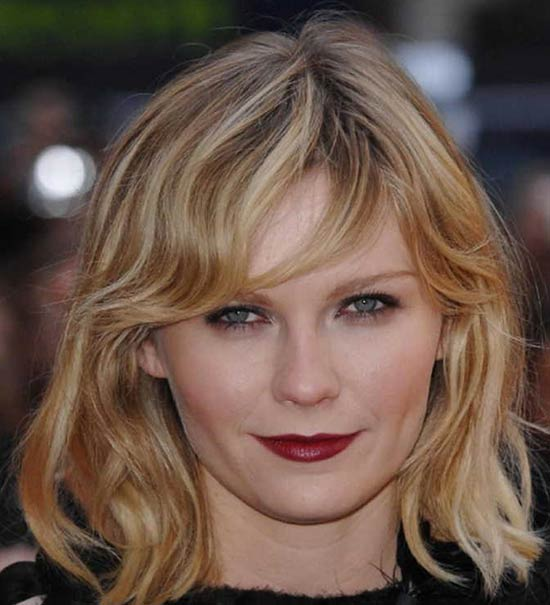 Kirsten Dunst Medium Length Haircuts for Thick Hair