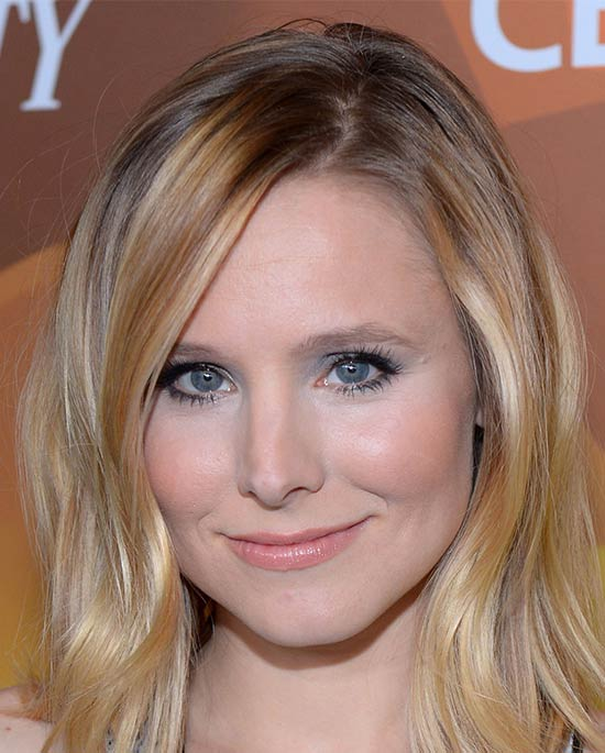 Kristen Bell Medium Layered Haircuts