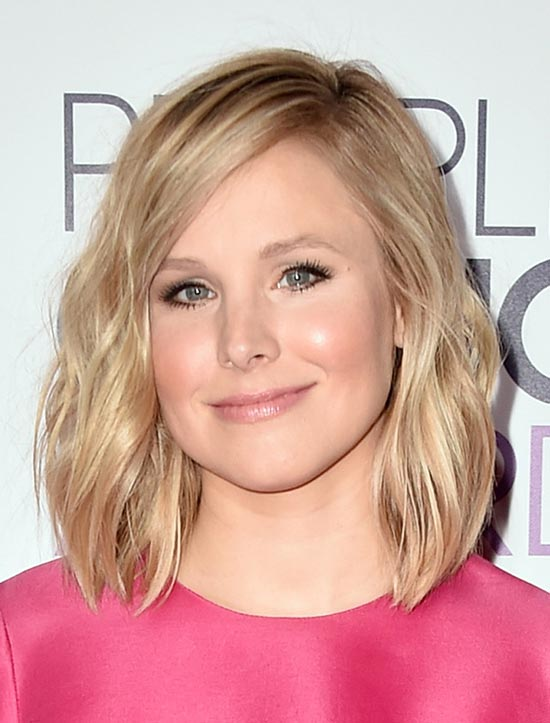 Kristen Bell Medium Shag Haircuts