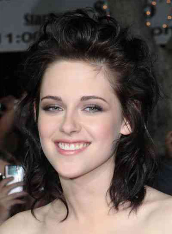 Kristen Stewart Medium Curly HairstylesA