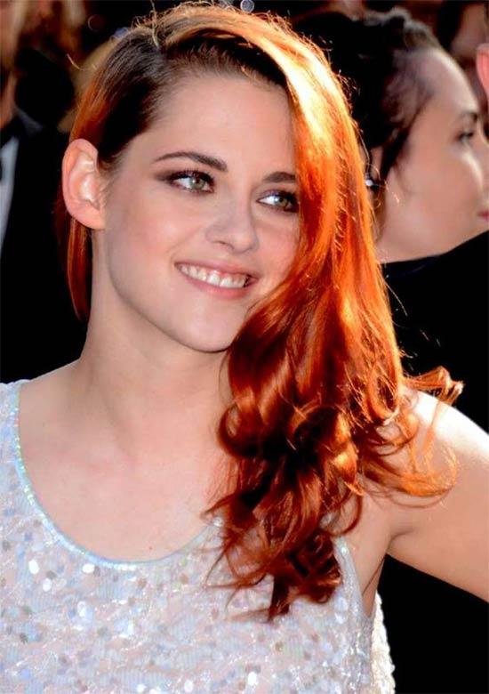 Kristen Stewart Medium Red Hairstyles