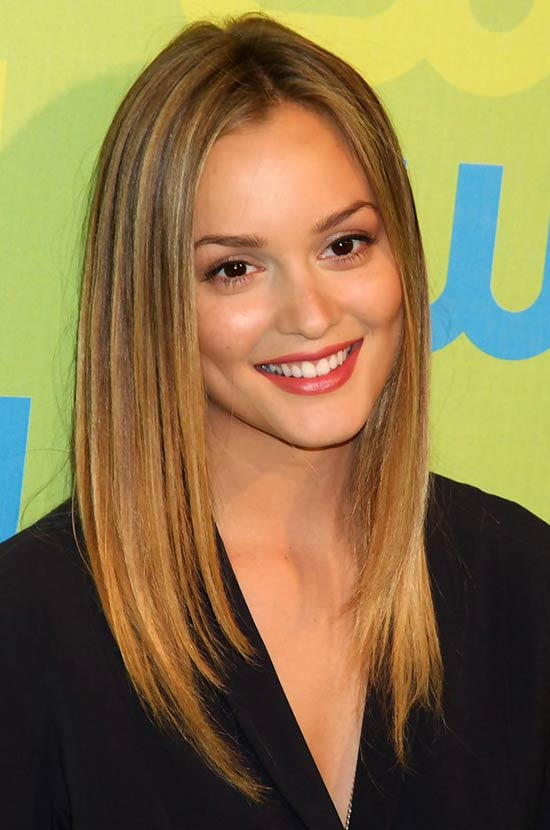 Leighton Meester Medium Straight Hairstyles