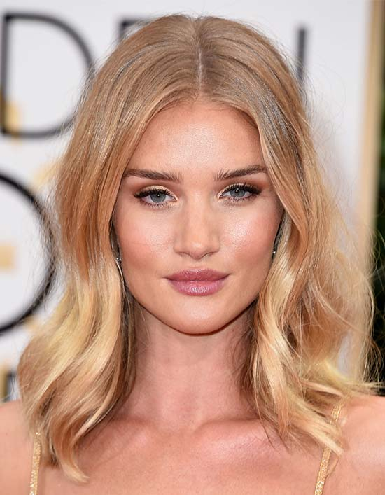 Lily James Medium Blonde Hairstyles