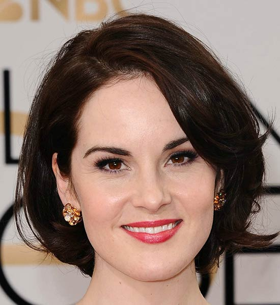 Michelle Dockery Messy bob haircuts