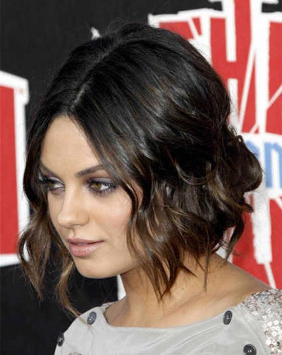 Mila Kunis Choppy Bob Hairstyles