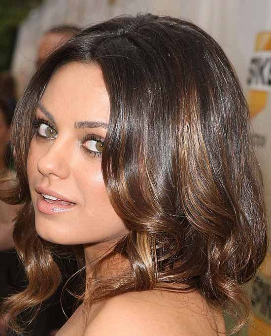 Mila Kunis Medium Curly Hairstyles