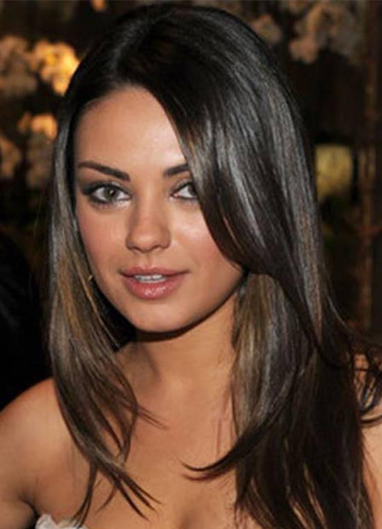 Mila Kunis Medium Layered Haircuts
