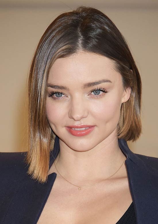 Miranda Kerr Medium Straight Hairstyles