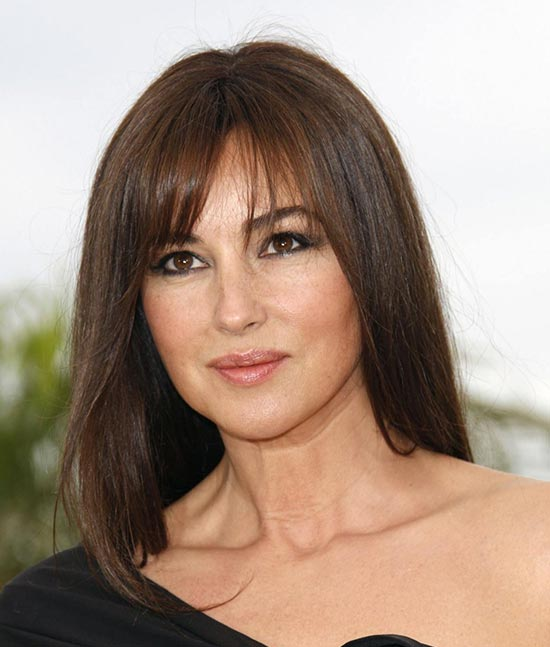 Monica Belluci Medium Length Hairstyles for Thin Hair