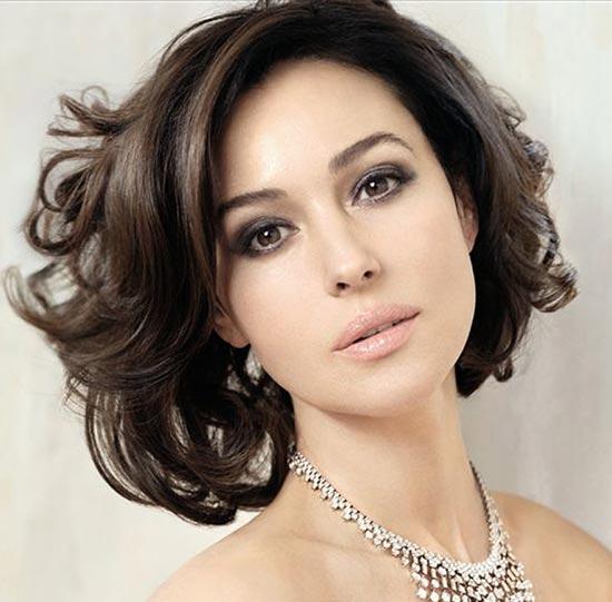 Monica Belluci Medium Shag Haircuts