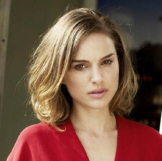 Natalie Portman Layered Bob Hairstyles