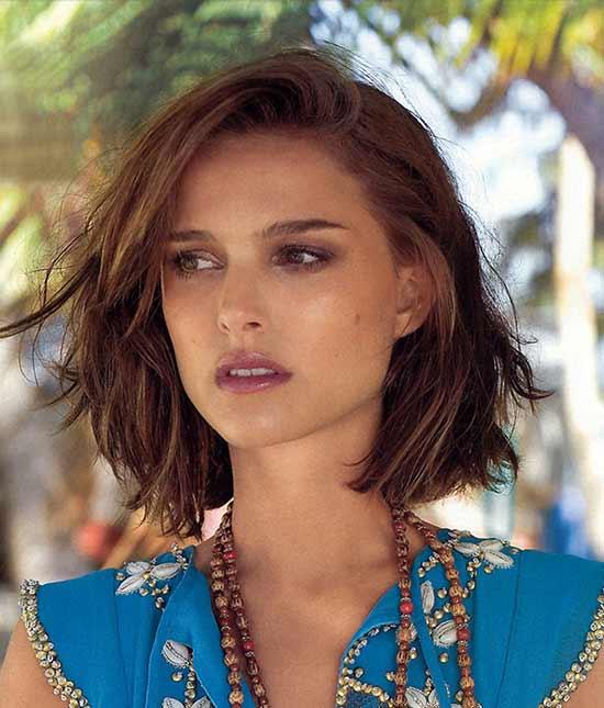 Natalie Portman Messy bob haircuts