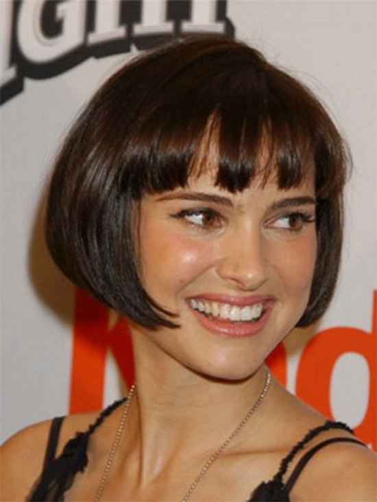 Natalie portman inverted bob haircut