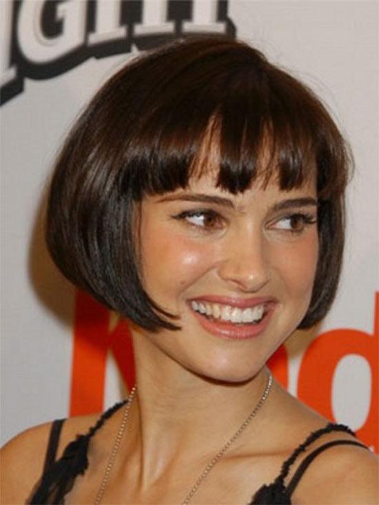 Natalie portman inverted bob haircut