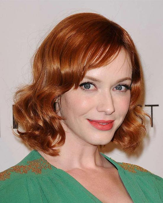 Odette Annable Medium Red Hairstyles