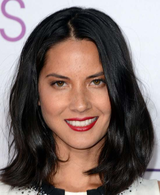 Olivia Munn Medium Layered Haircuts