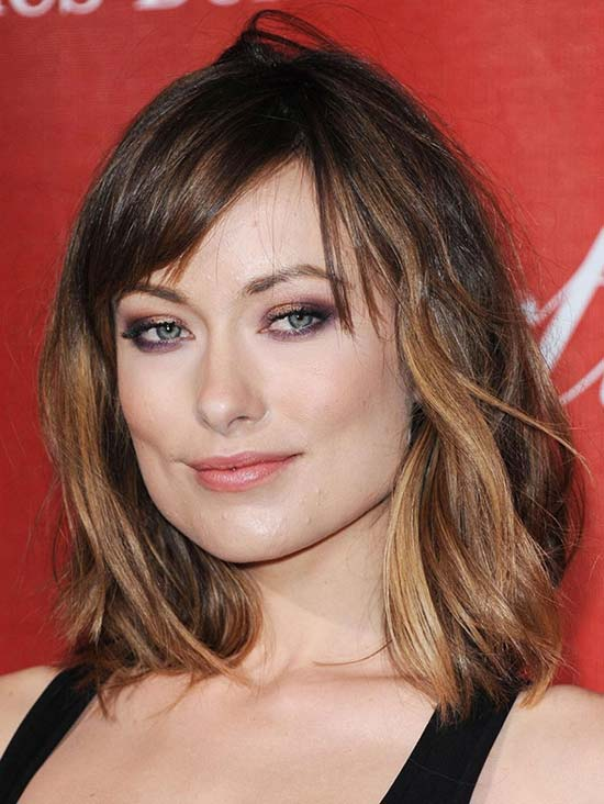 Olivia Wilde Medium Shag Haircuts