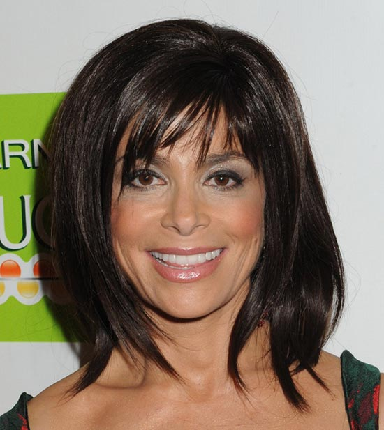 Paula-Abdul Sassy Bob Haircuts for Round Faces