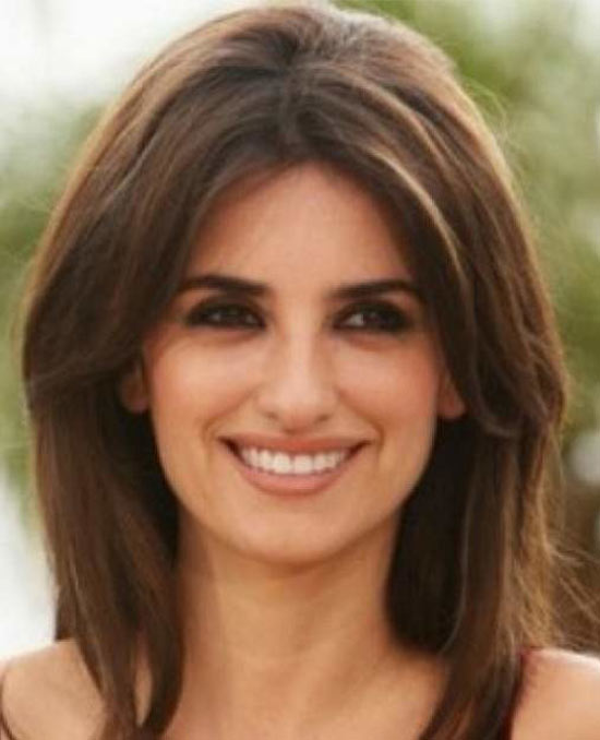 Penelope Cruz Medium Length Haircuts for Thick Hair