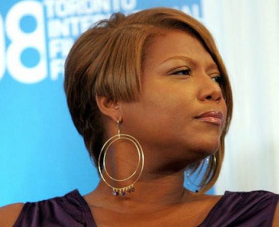 Queen Latifah Angled Bob Hairstyle