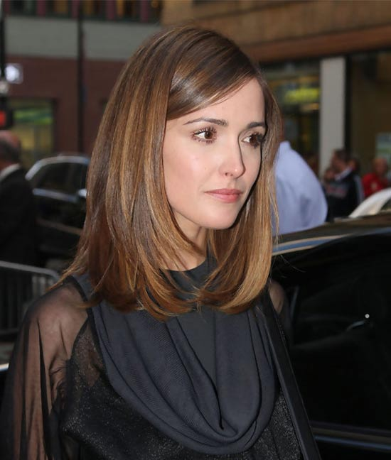 Rose Byrne Medium Straight Hairstyles