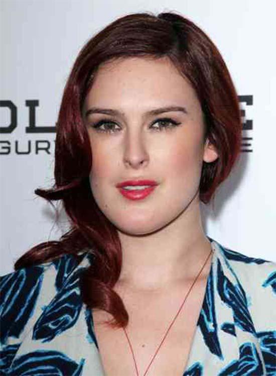 Rumer Willis Medium Red Hairstyles