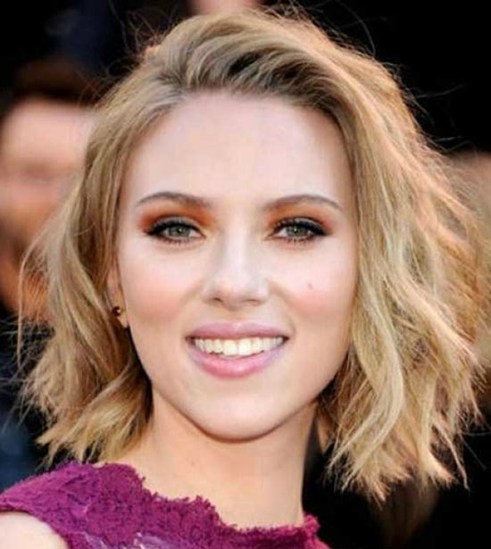 Scarlett johansson Messy bob haircuts