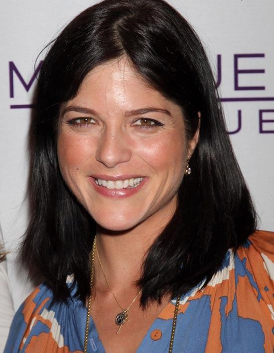 Selma Blair Medium Straight Hairstyles