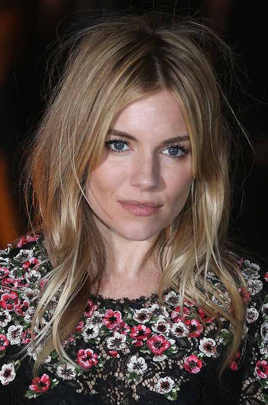 Sienna Miller Medium Length Hairstyles for Thin Hair