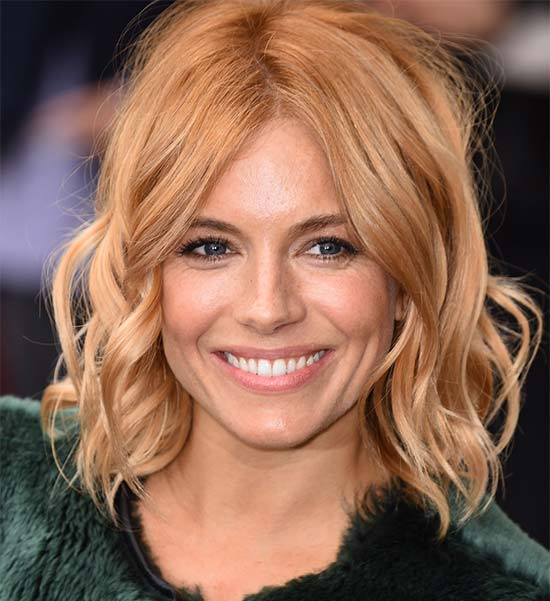 Sienna Miller Medium Shag Haircuts