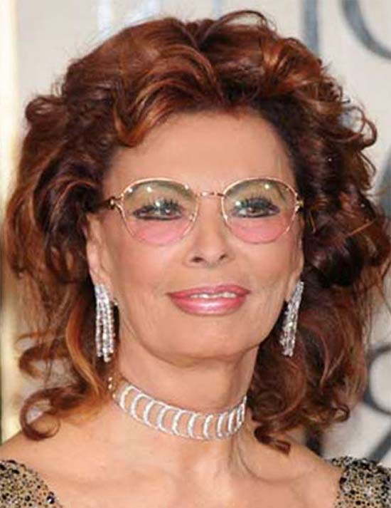 Sophia Loren Medium Red Hairstyles