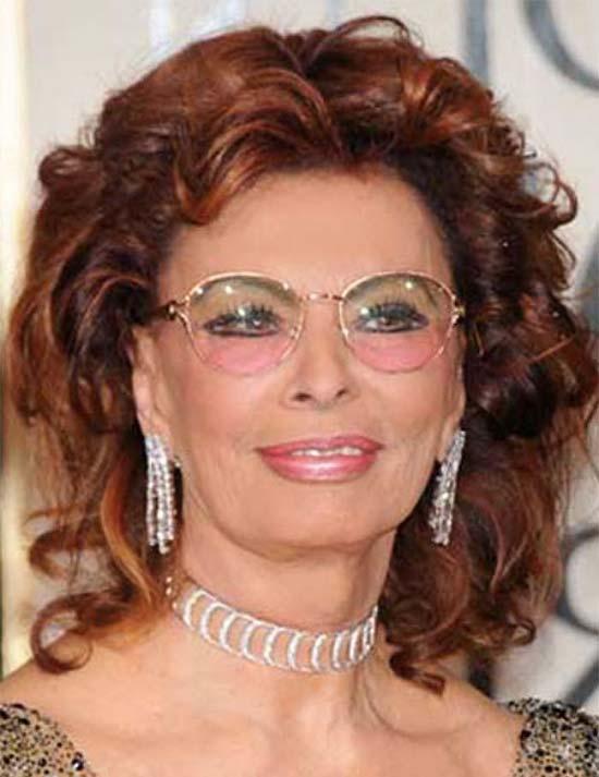 Sophia Loren Medium Red Hairstyles