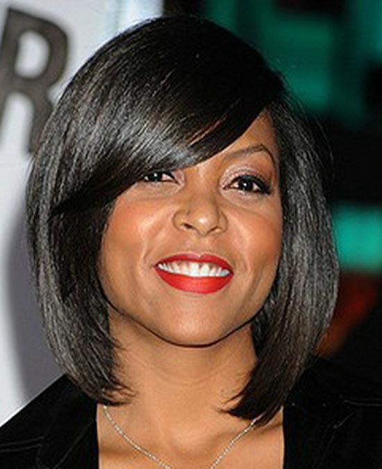 Taraji-P Henson Sassy Bob Haircuts for Round Faces