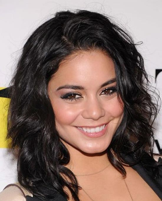 Vanessa Hudgens Medium Curly Hairstyles