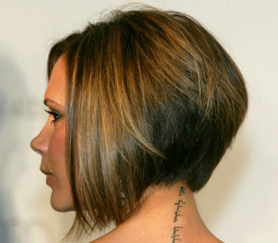 Victoria Beckham Inverted Bob Haircuts