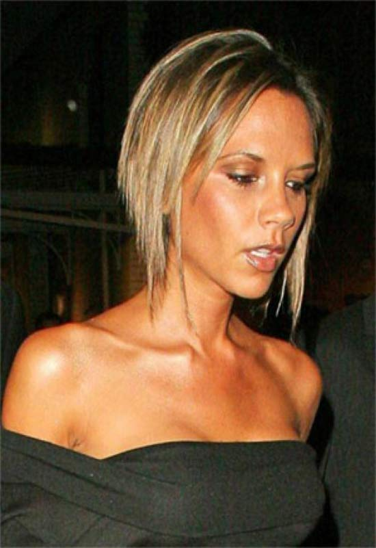 Victoria Beckham Medium Length Hairstyles for Thin Hair