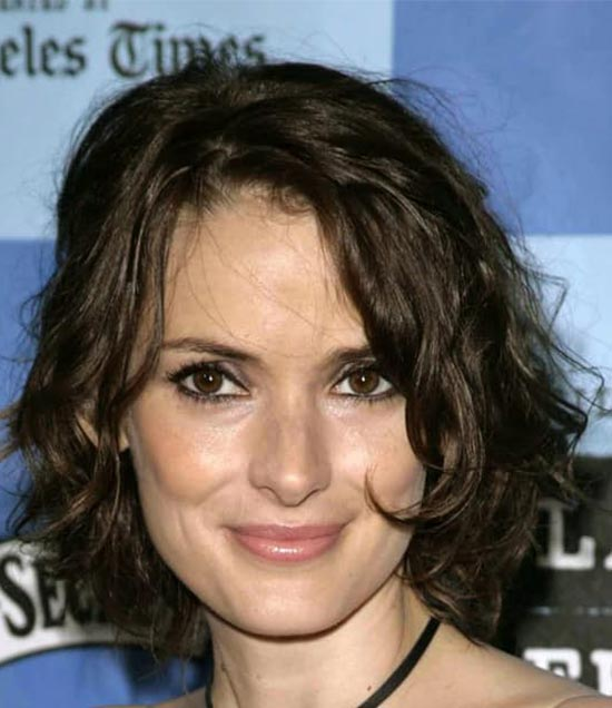 Winona Ryder Medium Curly Hairstyles