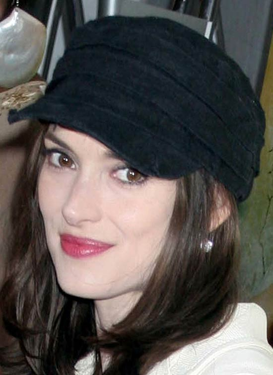 Winona Ryder Medium Layered Haircuts
