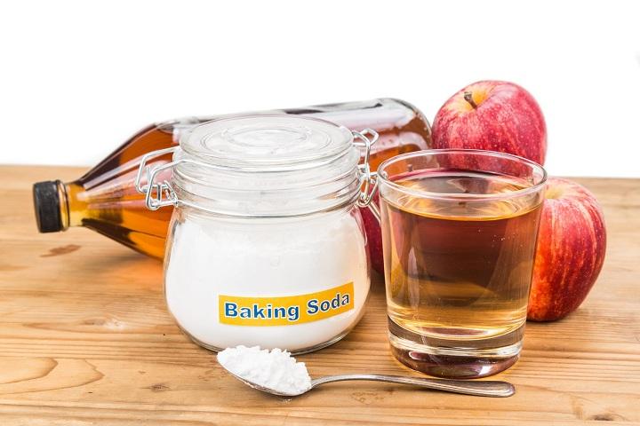 apple cider vinegar and baking soda for acne